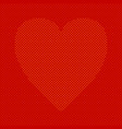 heart shaped background from hearts - pattern vector image vector image