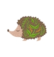 Hedgehog Relaxed Cartoon Wild Animal With Closed vector image vector image