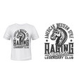 horse race club t-shirt print template vector image vector image