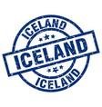 iceland blue round grunge stamp vector image vector image