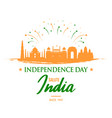 independence day india greeting banner famous vector image vector image