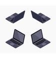 Isometric black laptop vector image vector image