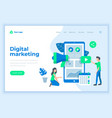 landing page template digital marketing concept vector image