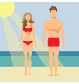 Man and Woman Flat vector image vector image