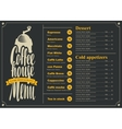 menu with price list for the coffee house vector image vector image
