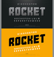 modern alphabet fonts and typography and number vector image vector image