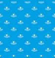 molecular center pattern seamless blue vector image vector image