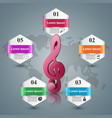 music infographic treble clef icon note icon vector image