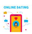 online dating social media date app concept design vector image