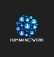 people social network technology vector image