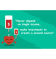 proverb for investment with art and word vector image vector image