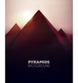 Pyramids Background vector image vector image