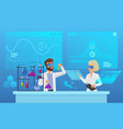 scientific futuristic laboratory research flat vector image