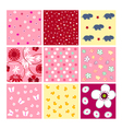 seamless baby patterns - fabrics vector image vector image
