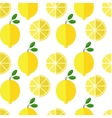 Seamless lemon pattern on white background vector image vector image