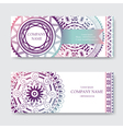 set business card or invitation card templates vector image