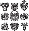 set heraldic silhouettes no3 vector image vector image