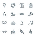 set of 16 celebration icons includes firecracker vector image vector image