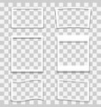set of different photo frames vector image vector image