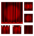 Set of red curtains to theater stage vector | Price: 1 Credit (USD $1)