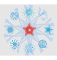 Snowflakes and Christmas Star vector image