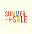 summer sale serigraphy style poster template silk vector image