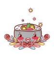 sushi kawaii cartoon vector image vector image