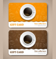 Template coffee gift cards with hand drawings vector image vector image