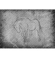 texture grain grey with horse vector image