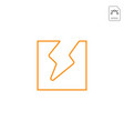 thunder flash logo icon abstract design isolated vector image