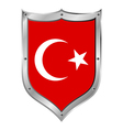 Turkey flag button vector image