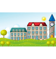 Two dormitories across the hill vector image vector image