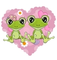 Two Frogs vector image vector image