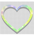 unicorn with rainbow mesh heart shaped frame on vector image
