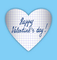 valentine made of paper with text vector image