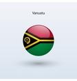 Vanuatu round flag vector image