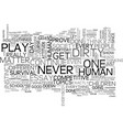 why do play dirty text word cloud concept vector image vector image