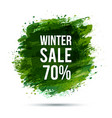 winter-sale-green vector image vector image