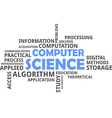 word cloud computer science vector image vector image