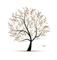 Green tree with red berries for your design vector image
