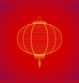traditional chinese red paper lantern vector image