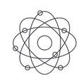 atom icon in monochrome silhouette vector image