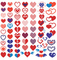 heart different icons vector image