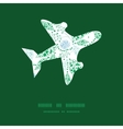 abstract blue and green leaves airplane vector image vector image