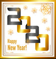 abstract golden banner 2020 happy new year vector image