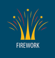 Abstract logo fireworks in the form of a crown vector image vector image