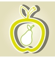 apple fruit with pear isolated icon design vector image vector image