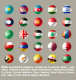 asia round button flags two vector image