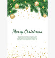 banner with christmas tree branches and vector image vector image