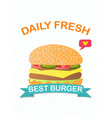 best burger advertising or marketing poster vector image